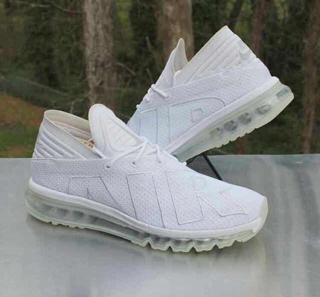Nike Air Max Flair Triple White Men's Size 11.5 Pure Platinum 942236 100