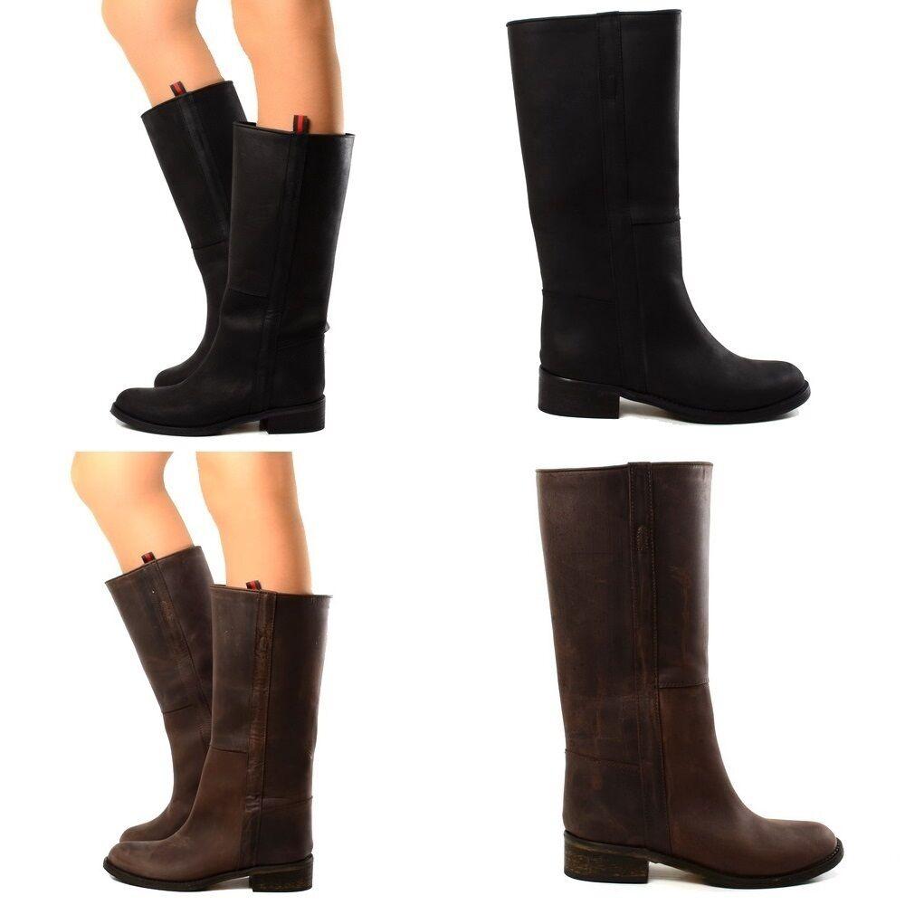 Damen Stiefel Echtleder Cowboy Reiterstiefel LIMITED EDITION Luxury Boots 069 2