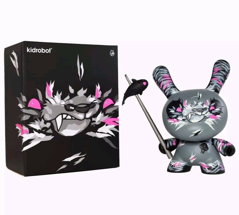"Kidrobot Angry Woebots Shadow Friend 8"" Dunny Limited to 1250 pieces"