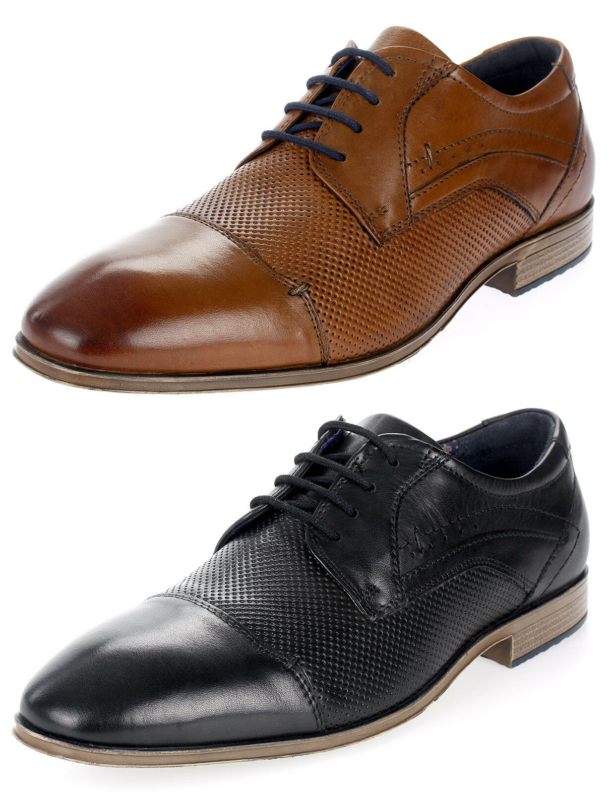 S.Oliver Herren Business-Schuhe Echtleder Halbschuhe Schnürer Derbys 13200