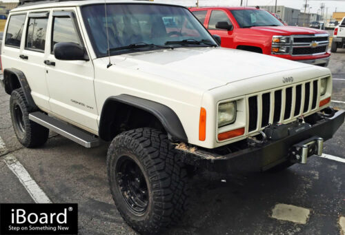 """Premium 5/"""" iBoard Side Steps Fit 84-00 Jeep Cherokee 4-Door"""
