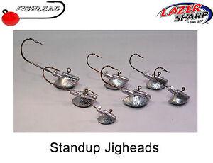 lrf,pike drop shot pack of 3 Mustad micro jig heads #1 perch 1,5-7g