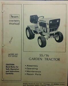 Sears Suburban SS/16 Lawn Garden Tractor Owner & Parts Manual ... on wheel horse wiring diagram, cub cadet wiring diagram, craftsman wiring diagram, massey ferguson wiring diagram, huskee wiring diagram, pto switch wiring diagram, john deere wiring diagram, troy built solenoid wiring diagram, snapper wiring diagram, simplicity wiring diagram, ayp wiring diagram, 2012 suburban parts diagram,