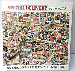 POSTAGE-STAMPS-Puzzle-034-SPECIAL-DELIVERY-034-500-piece-jigsaw-puzzle