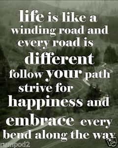 Inspirational Motivational Poster Life Is Like A Winding Road