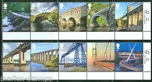 GREAT-BRITAIN-2015-BRIDGES-SET-OF-TEN-STAMPS-MINT-NEVER-HINGED