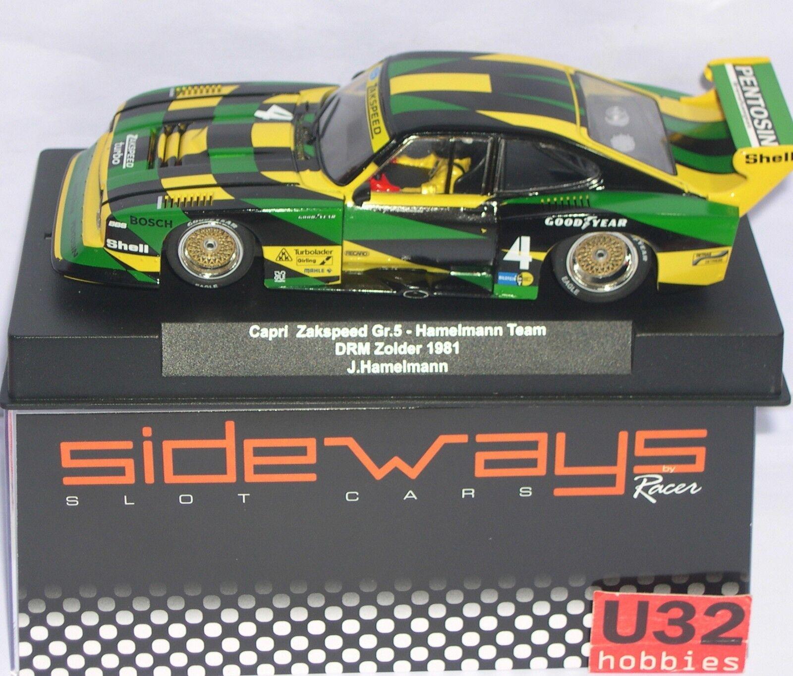RACERS SIDEWAYS SW60 FORD CAPRI Gr.5 ZAKSPEED 4 DRM DRM DRM ZOLDER 1981 J.HAMELMANN cee8e1