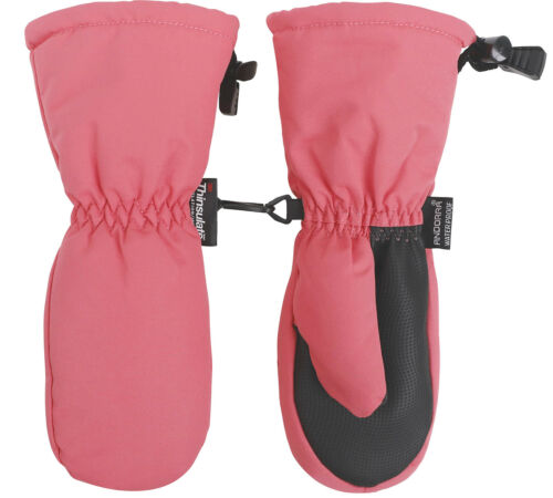 Kids Girls Boys Child Waterproof Long Ski Gloves Solid Snow Mittens