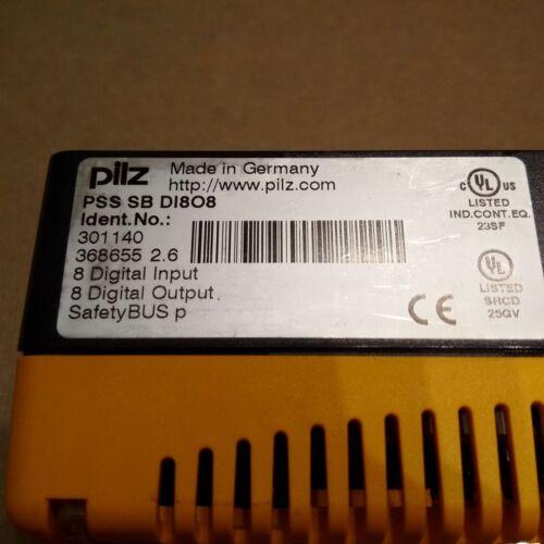 301140 V 2.6 MODULE - PILZ PSS SB DI8O8 I//O ID NO 0/% VAT INVOICE