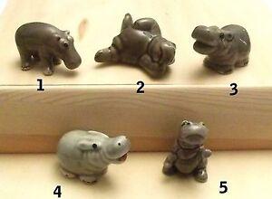 """Hippopotame Miniature En Porcelaine, 5 Modèles, Envoi Gratuit, Nijlpaard """"g"""" Dibprvkk-07232932-368495471"""