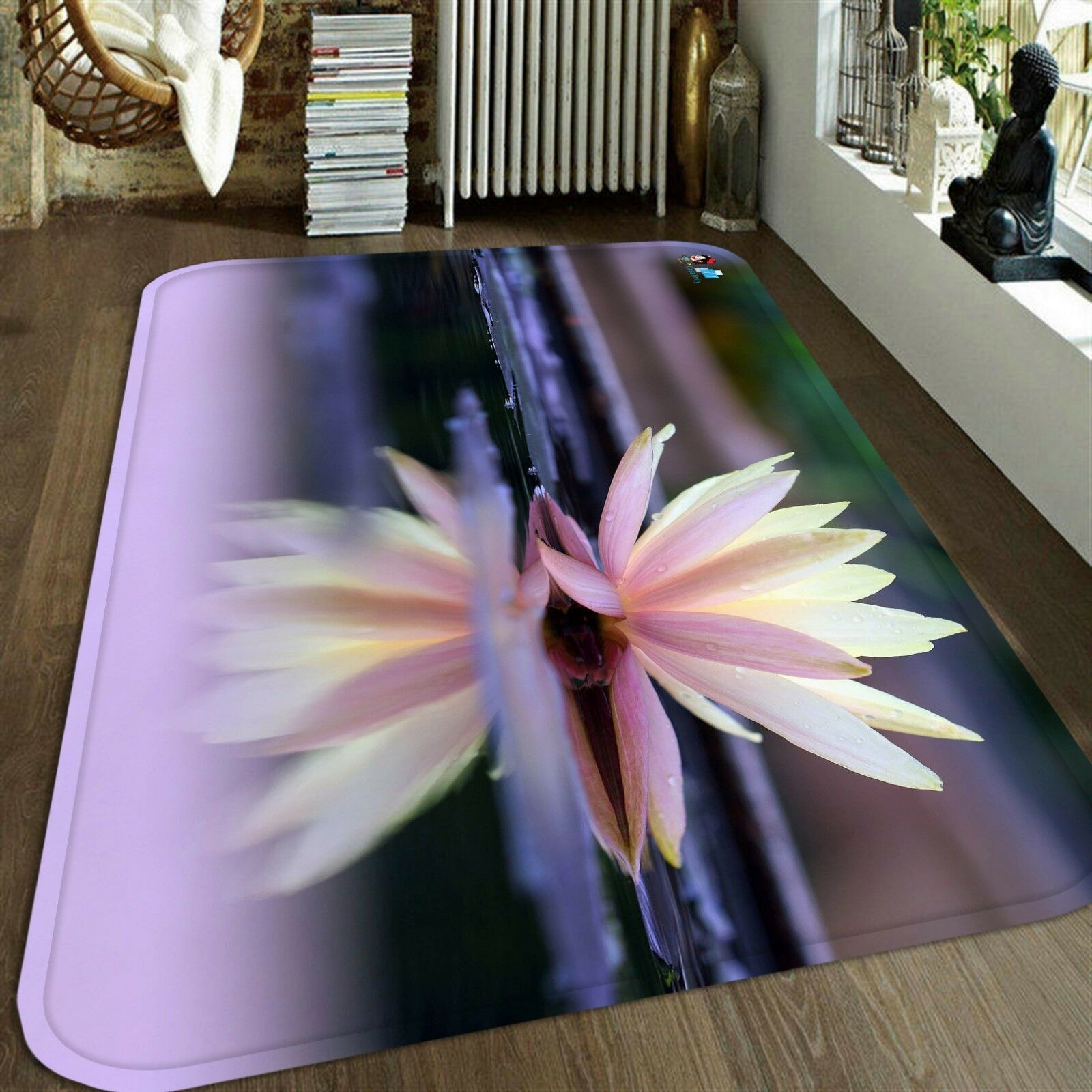 3D 3D 3D Lotus Pleine Fleur 229 tage Antidérapant Natte Élégant Tapis FR Summer 27d8c9