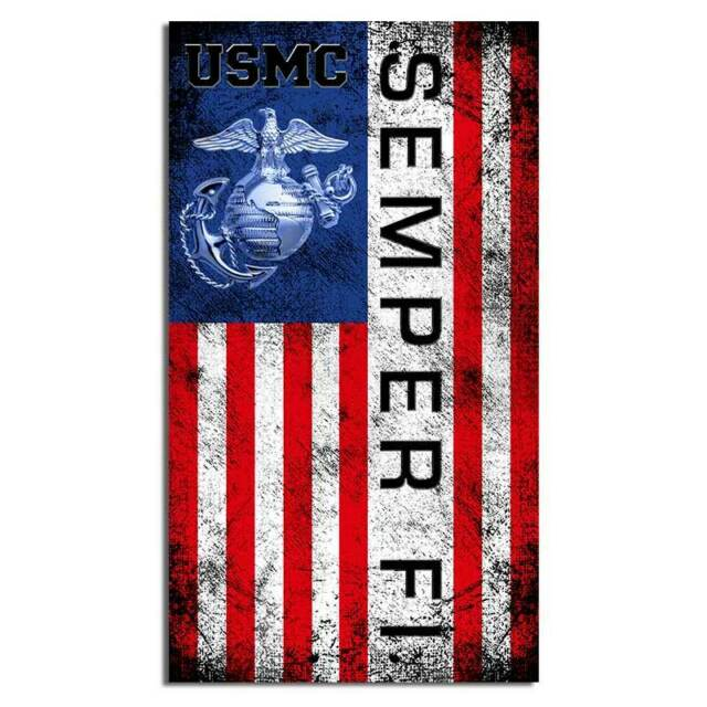 USMC Marine Corps marines semper fi earth globe anchor Sticker Decal Car Truck 4