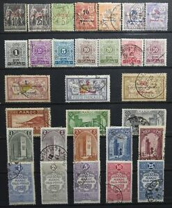 1891-1950-gt-French-Colony-gt-MOROCCO-gt-Multi-Condition-Vintage-Stamps