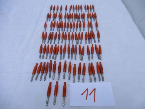 11 1x Steckkupplung 4mm Bananenstecker rot Ø 2mm ex Bundeswehr