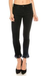 franges noirs franges juste Jeans juste noirs Jeans à à zg6qwn57n