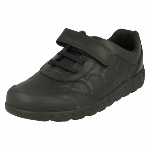 para leader escolares Zapatos niños Loop Fastening Clarks Hook Pass Negro wXqvqOfU