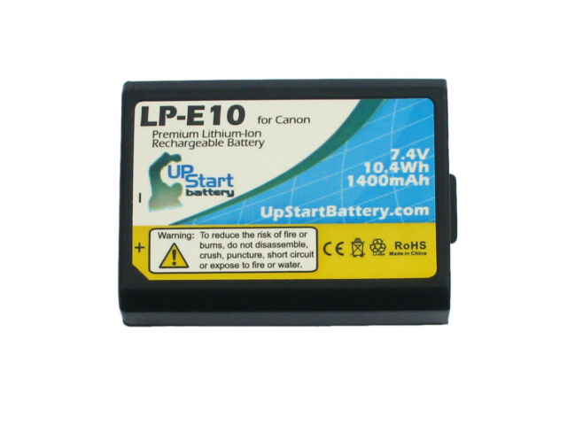 LP-E10 Battery for Canon DSLR Camera EOS 1100D Rebel T3 Kiss X50