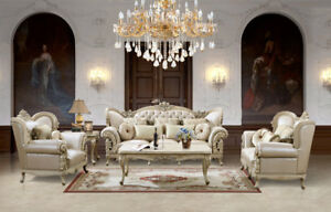 Details about HD 32 upholstery living room set Victorian, European &  Classic design Sofa Set.