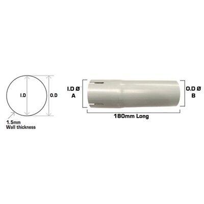 50 Mm Argento Universal Tubo Di Scarico Sezione Connettore Joiner-diametro-mostra Il Titolo Originale
