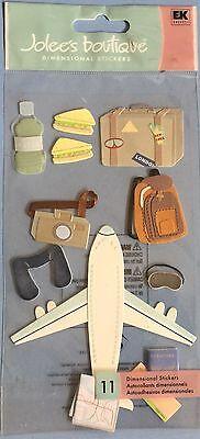 Plane Trip Passport Camera Sleep Mask Neck Pillow Carry On Jolee/'s 3D Sticker