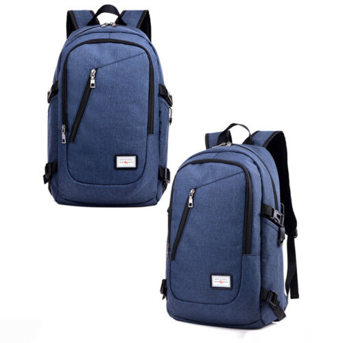 Herren USB Rucksack Laptop Schulrucksack Schultasche Schulranzen Backpack Tasche