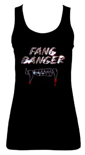 all sizes 8 to 16 WITH RHINESTUDS FANG BANGER VAMPIRE GOTHIC  VESTS TANK TOPS