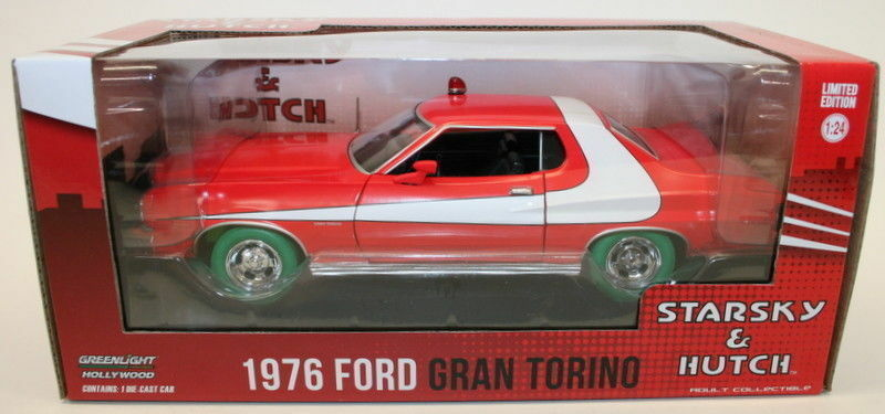 Greenlight 1 24 Scale STERSKY AND HUTCH 1976 FORD GRAND TORINO Chase Car Model
