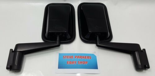 LAND ROVER DEFENDER 90//110//130 NEW DOOR WING MIRRORS /& ARMS PAIR MTC5217 Black