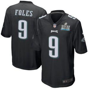 super popular 8ecb7 28dc6 Details about NICK FOLES # 9 SB LII Game Jersey 3XL Black Philadelphia  Eagles !