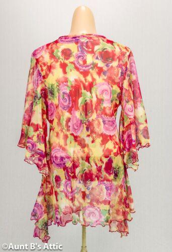 Poli Tessuto Floreale Moderno Donna Trasparente 3ms Multicolore Da Stile 21 wq6U0Aq