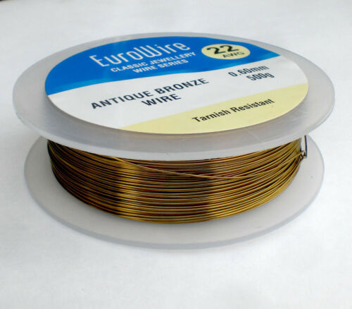 Bronce Antiguo Color Alambre de cobre 0.4mm 26 calibre 500 Gramos-Alta Calidad 447m