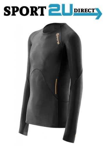 bargain Black//Gold Skins Compression A400 Youth Long Sleeve Top NEW!