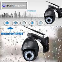 2x Wifi H.264 Dome Wireless Onvif 2.8-12mm Cctv Security 5xzoom Ir-cut Ip Camera