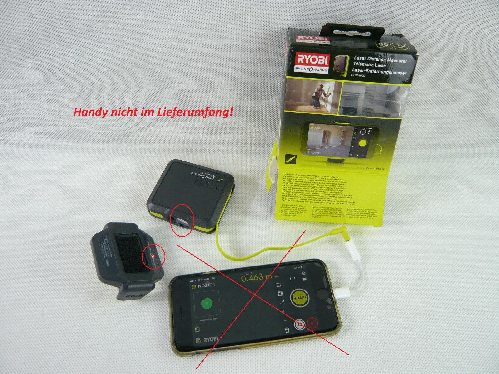 Infrarot Laser Entfernungsmesser : Ryobi phone works laser entfernungsmesser rpw