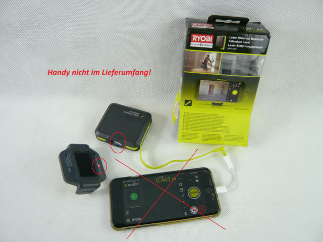 Ryobi phone works laser entfernungsmesser entfernungsmesser rpw 1000