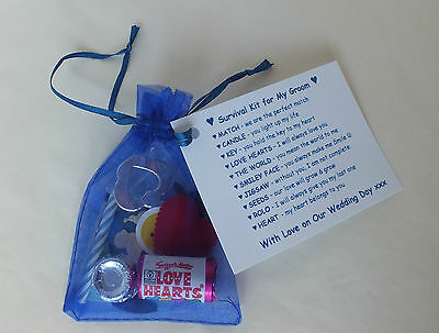 Groom Survival Kit Fun Present Novelty Gift from Bride on Wedding Day for Groom