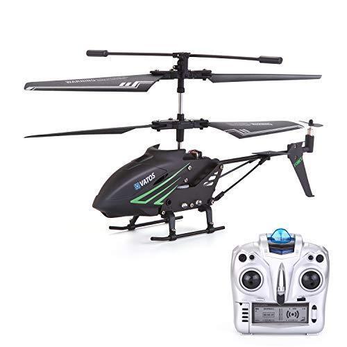 VATOS RC Helikopter Indoor mit Gyro und LED Lichtern 3,5 Kanäle Fernbed(S880)