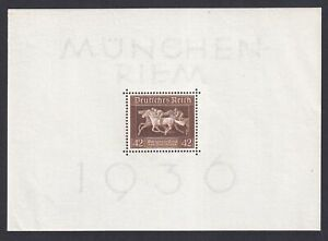 GERMANY 1936, Mi# Block 4, CV €32, MNH