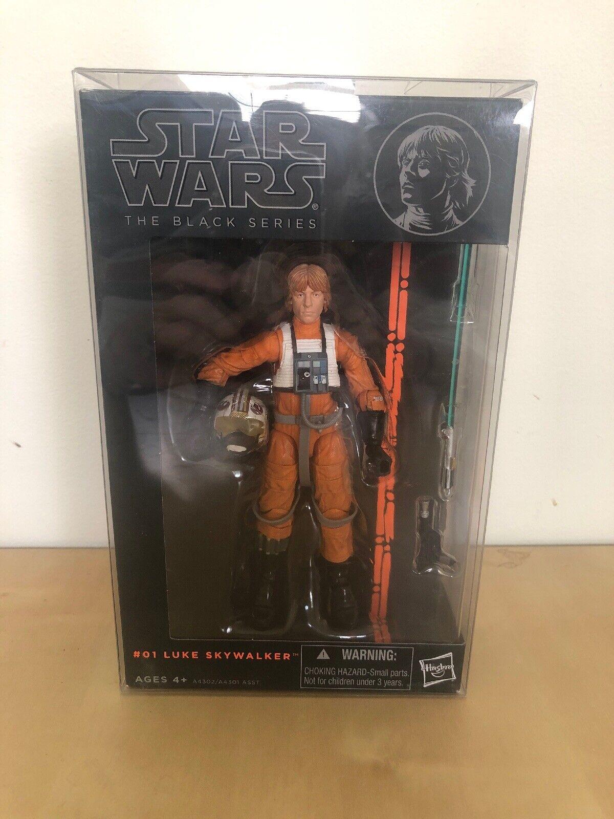 Star Wars The Black Series 1st Release  1 Luke Skywalker Xwing Pilot 2013