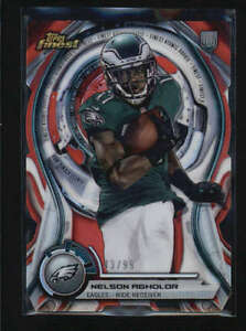 Nelson Agholor 2015 Topps Finest Atomic Red Refractor Rookie Die Cut 99 Ab6854 Ebay