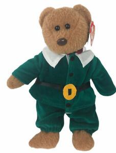 Ty Curly The Bear With Pilgrim Outfit 4052 TY BEANIE BABY