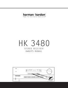 harman kardon hk 3490 manual