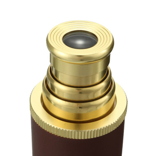 25x30mm Navy Monocular Telescope Telescopic Pirates Spyglass with Leather Bag