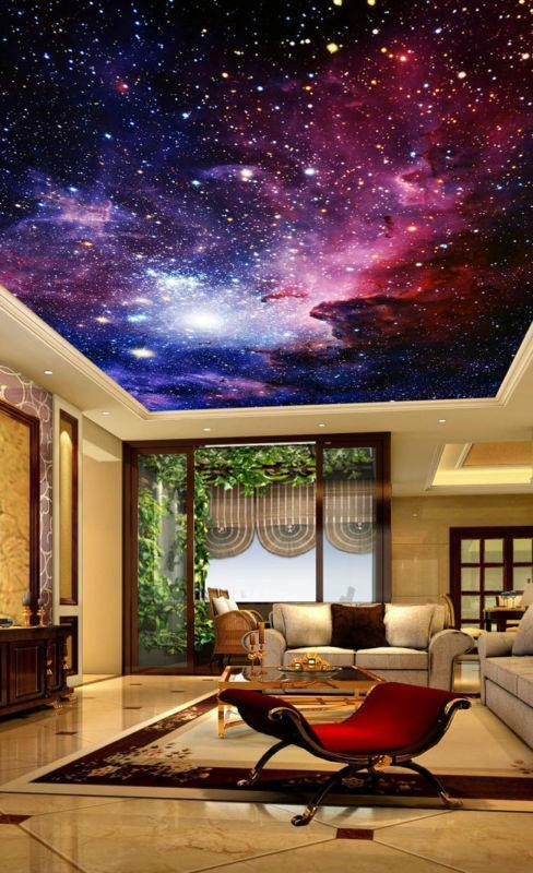 Outer-space Galaxy Nebula Ceiling Wall Mural Wall paper Decal Wall Art Business