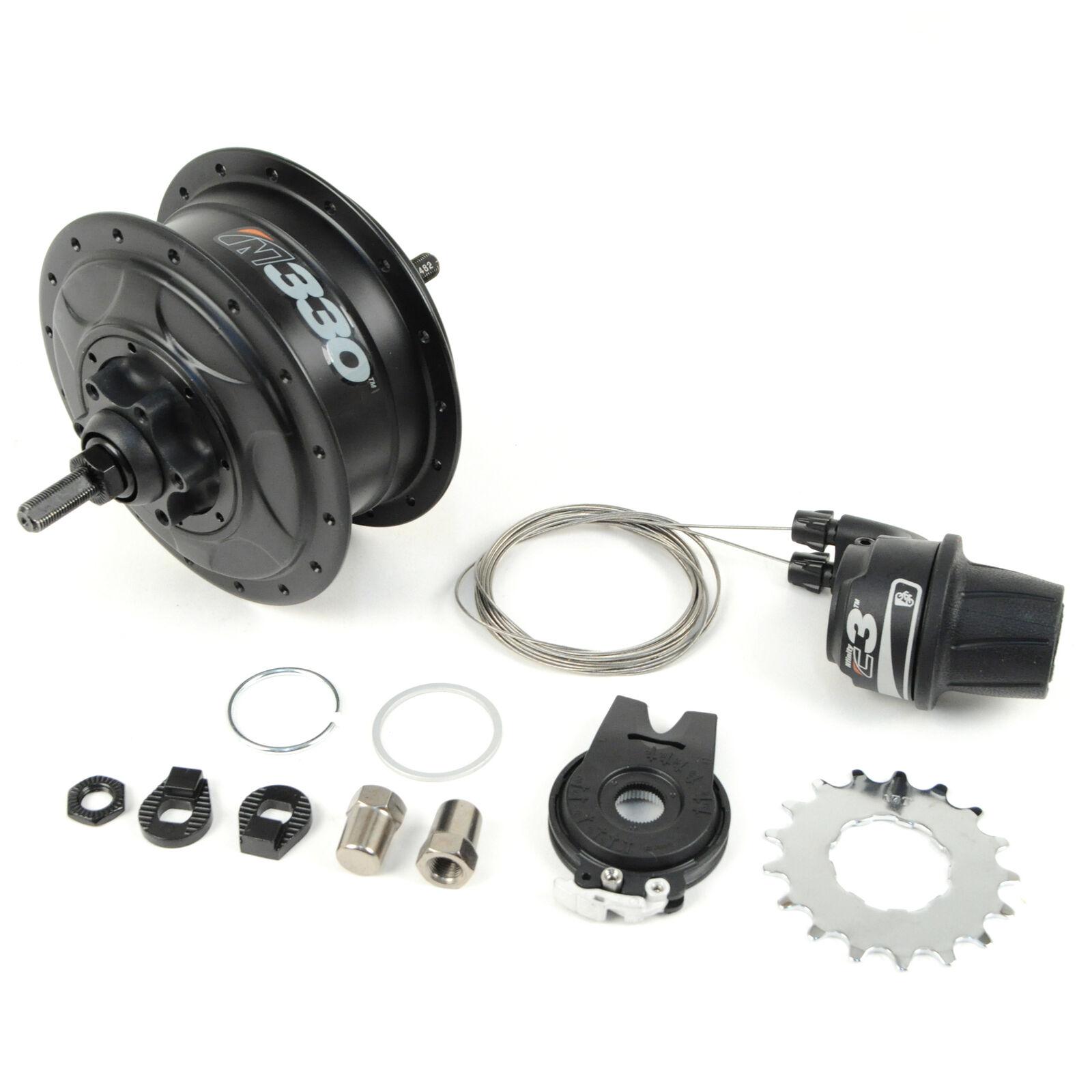 Nuvinci N330 CVP Bicicleta de engranajes internos Buje trasero freno de disco 32h Negro C3