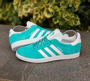 adidas-Originals-Gazelle-Men-039-s-Shoes-in-Aqua-Blue-Sneakers-Authentic-Sz-10