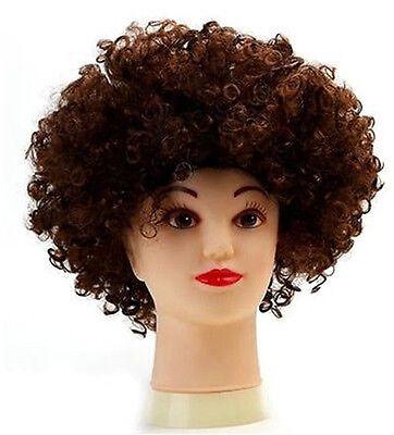 Orange 80 S Frisé Afro Perruque Parti Clown Funky Disco adultes enfants cheveux Fuzz Head