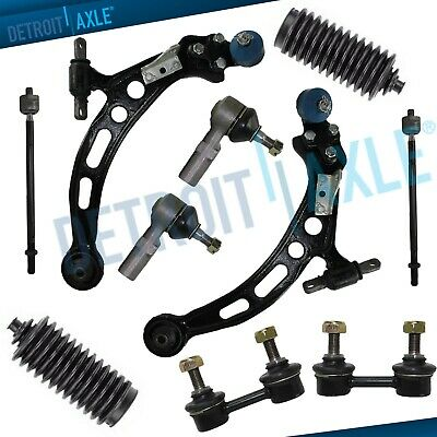 PartsW 10 Piece Kit Front Lower Control Arms Passenger /& Driver Side With Ball Joints Inner /& Outer Tie Rod Ends Front Sway Bar End Links