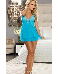 Sexy-Babydoll-Nighty-Teddy-Women-039-s-Lingerie-Intimate-Apparel-Sleepwear-Nightwear