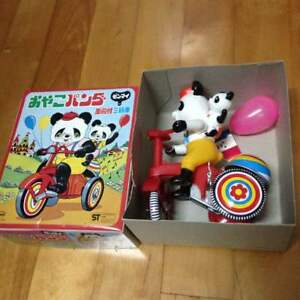 Oyaki-Panda-Tricycle-Spring-with-Balloon-Made-in-Japan-Vintage-rare-from-JAPAN